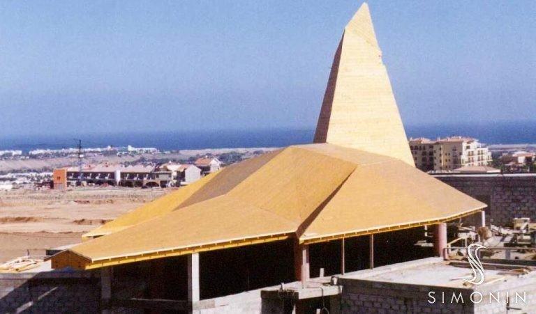 Maspalomas church - Glulam + Sapisol - Gran Canaria