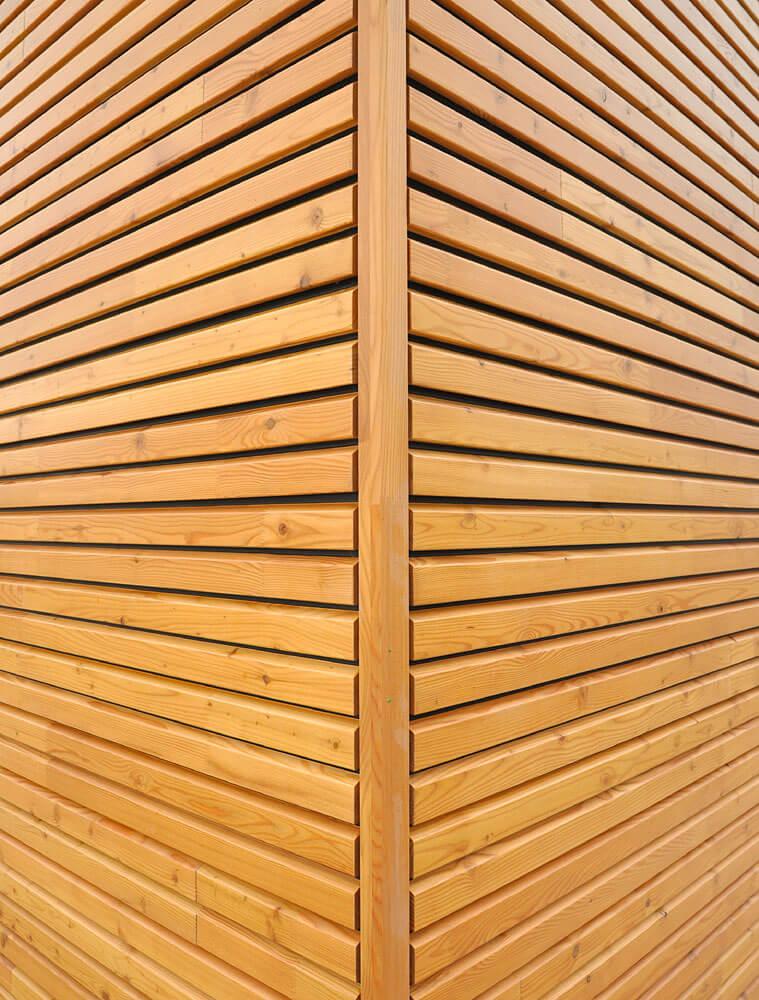 Bardage bois ajouré horizontal u2013 C u00e2bleélectrique cuisini u00e8re vitrocéramique # Bardage Bois Claire Voie Horizontal