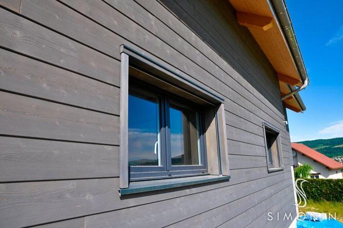 bardage maison with bardage maison cheap maison ossature bois les au bardage bois naturel with. Black Bedroom Furniture Sets. Home Design Ideas