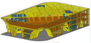 French pavillon - technical draw