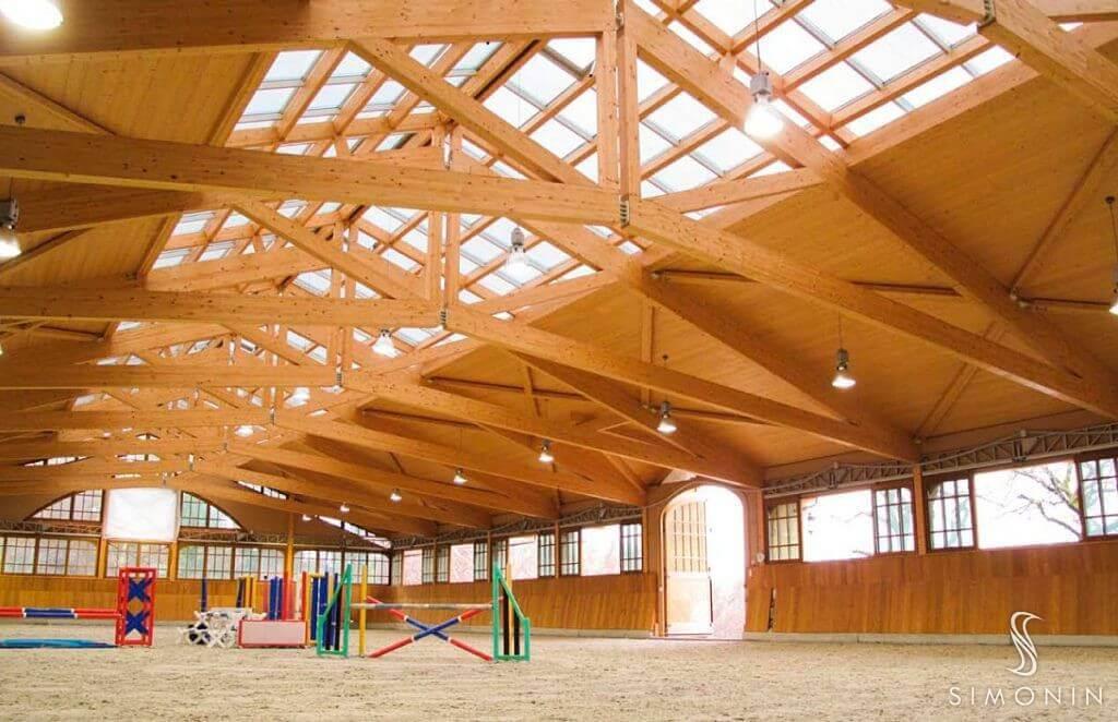 Glulam beam, Laminated wood structure   Simonin