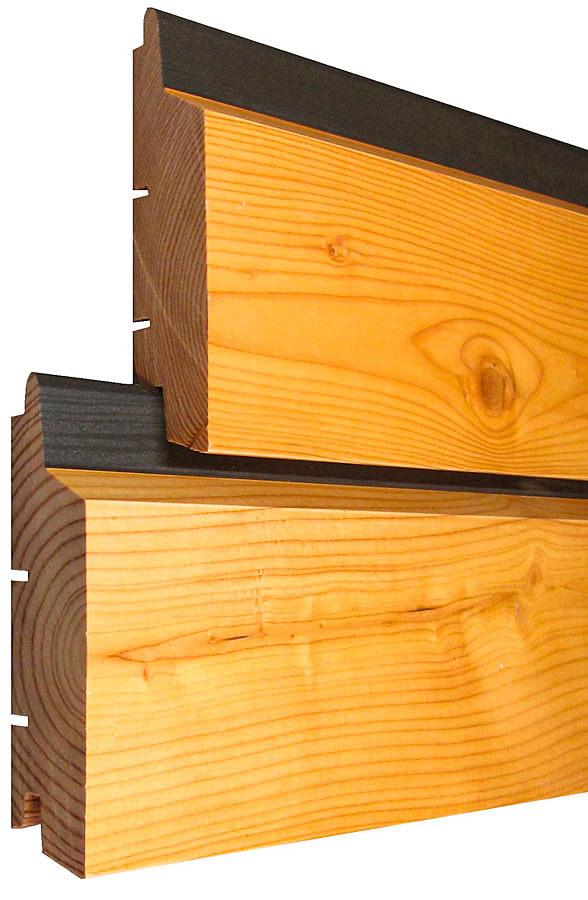 Image Bardage Bois construction maison en ossature bois, revêtement de façade en
